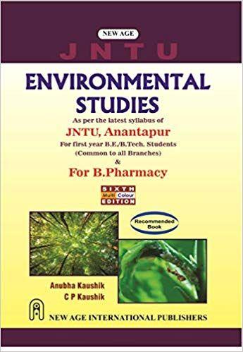 Environmental Science, JNTU Anantpur & for B.Pharmacy JNTU Kakinada