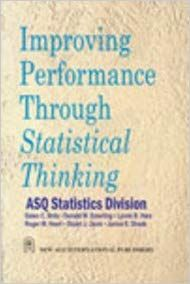 Improving Performance Through Statistical Thinking