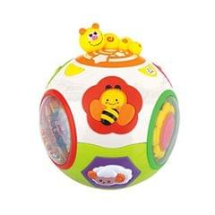 Baby Bucket Toy with Musical/Activity/Educational Toy with Lights.Size 12 x 12 cm(Ball Move & Crawl)