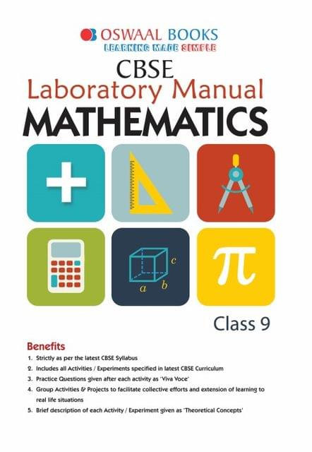 Oswaal CBSE Laboratory Manual Class 9 Mathematics Book (For March 2020 Exam)