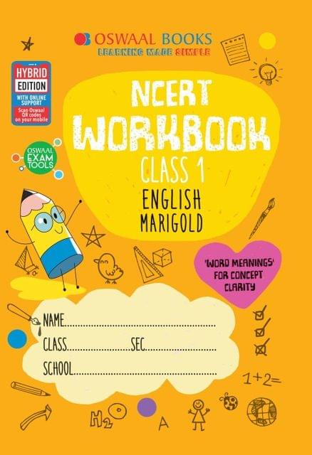 Oswaal NCERT Workbook Class 1 English Marigold Book