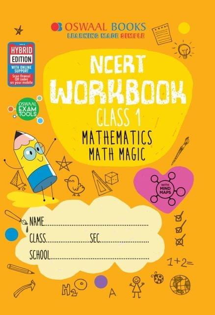 Oswaal NCERT Workbook Class 1 Mathematics Math Magic Book