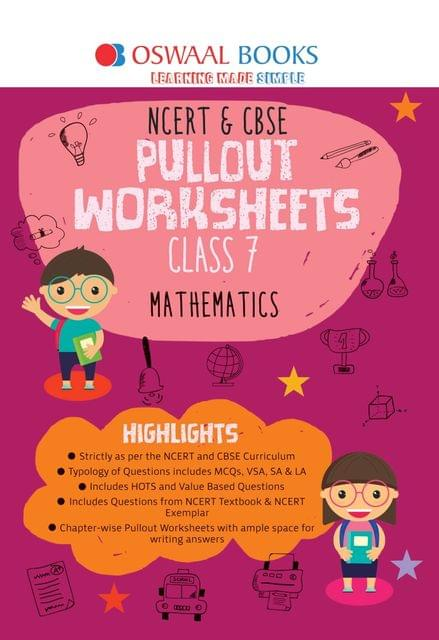 Oswaal NCERT & CBSE Pullout Worksheets Class 7 Mathematics Book (For March 2020 Exam)
