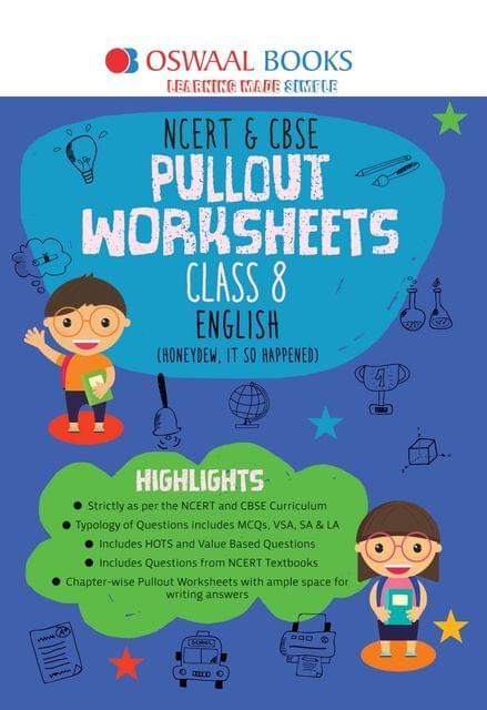 Oswaal NCERT & CBSE Pullout Worksheets Class 8 English Book (For March 2020 Exam)