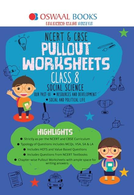 Oswaal NCERT & CBSE Pullout Worksheets Class 8 Social Science Book (For March 2020 Exam)