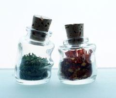 Mini Wonky Bottle with Cork - Set of 2