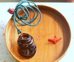 Wonky Bottle Locket - Flower