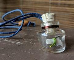 Wonky Bottle Locket - Message