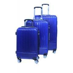 PLATINUM TRAVEL TROLLEY BAG   UNBREAKABLE HARD   BLUE    3 SET   RA8655