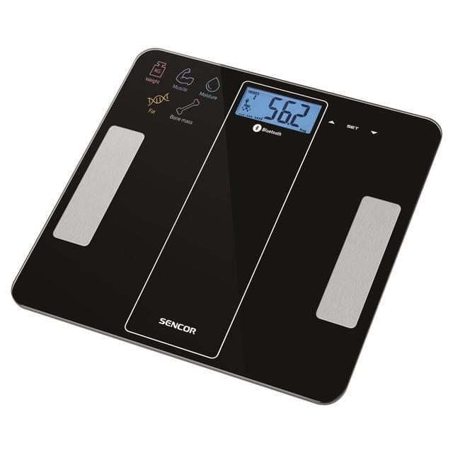 SENCOR   Bluetooth Fitness Scale   Max 180 kg   Battery   SBS 8000BK