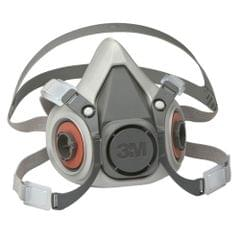3M | Reusable Half Face Respirator | 6000 Series(6200) with two Filter Cartridge included (6003/07047) | Medium (6200/07025)