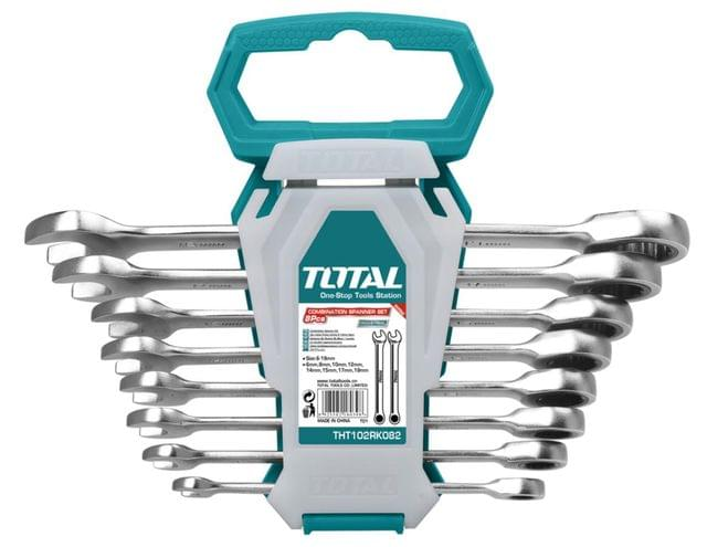TOTAL | Ratchet Spanner Set | 8 Pcs | THT102RK086