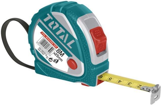 TOTAL | Steel measuring tape | 8m X 25mm | TMT126081