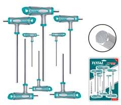 TOTAL | T-handle Hex Wrench Set | 8 Pcs | THHW8081