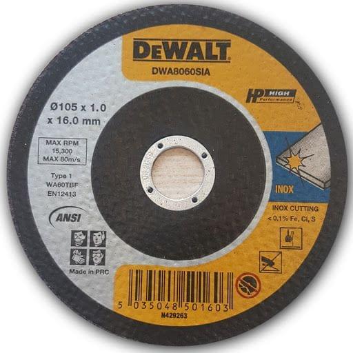 DEWALT | Extra Thin SS Cutting Wheel 105X1.0X16mm | DWA8060SIA