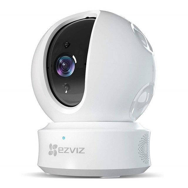 EZVIZ   Smart Home Camera with Full Coverage & Night Vision   White   C6CN
