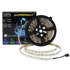 LED STRIP LIGHT | 5050 60D | RGB ROPE LIGHTS FOR BEDROOM, CARS, CHRISTMAS PARTY, WATERPROOF | 16.4FT 300LEDS FLEXIBLE COLOR CHANGING RIBBON