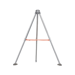 DELTAPLUS | ALUMINIUM TRIPOD TRA20 WITH ALUMINIUM FIXING PLATE TRA102 AND MANUAL WINCH TR00520