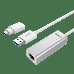 UNITEK   USB3.0 ALUMINIUM GIGABIT ETHERNET CONVERTER   Y-3464A