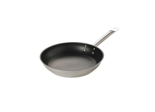 BROWNE   STANDARD EXCALIBUR NON-STICK COATING FRY PAN   STAINLESS STEEL   ALL SIZE