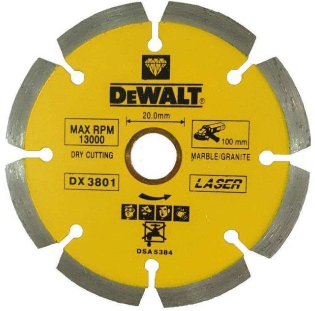 DEWALT | Diamond Disc | Marble & Granite Blade 115 X 22.2mm |  For Concrete, Plastic, Fiberglass, Stainless Metals | DX3821