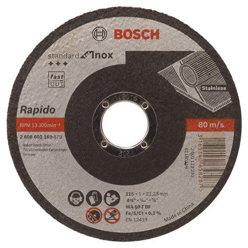BOSCH | Standard for Inox-Rapido Straight Cutting Disc 115 X 1 mm | BO2608603169