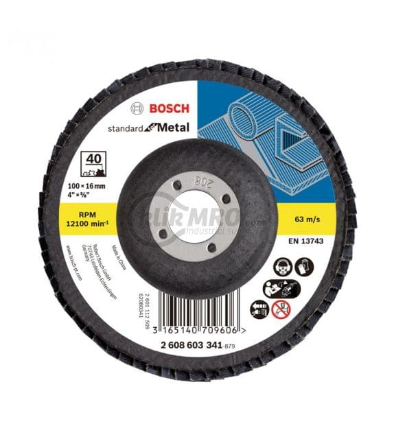 BOSCH   Standard for Metal Flap Disc 100 mm 40G   BO2608603341