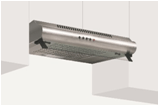 GLEM GAS | STAINLESS STEEL TRADITIONAL COOKER HOOD | 60 CM | GHC65IX