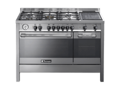 TECHNO GAS | GAS BURNER 5 + GAS OVEN WITH ELECTRIC OVEN | 120 X 60 CM | P1X12GE5VC