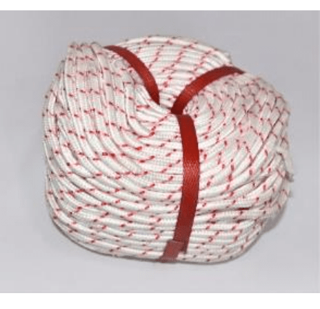 Cotton Rope   Red-White100Mtr  Size 4 /6 /8 /10 /12 /14 /16 /18 /20 /22 /24 MM    18-CR-4X100