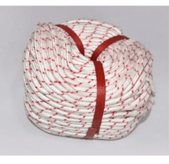KMAX77 | Cotton Rope 8MMx100 Red&White  | 18-PCR-8X100K