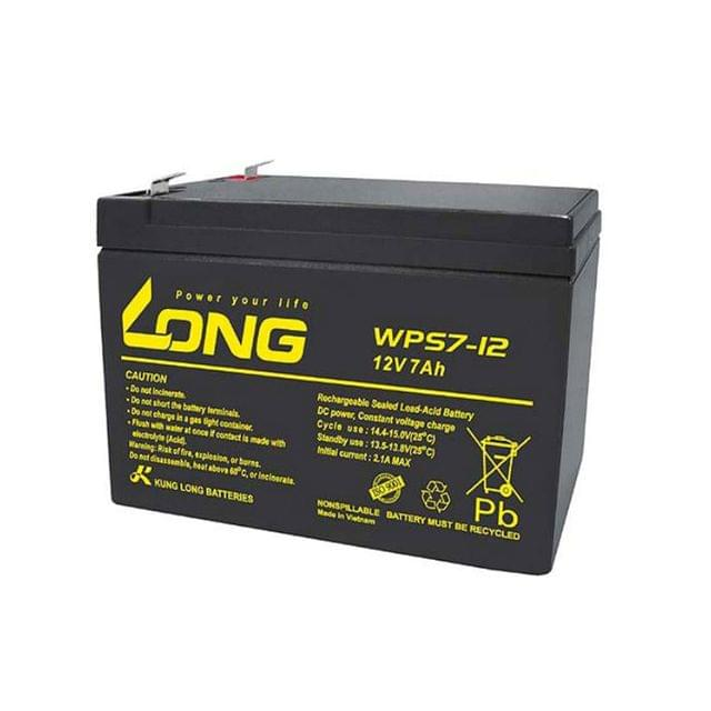 KUNG LONG | CYCLE SCOOTER BATTERY | 12V 7AH | WPS7-12