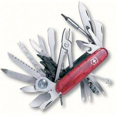 Victorinox | Swiss Army Knives | Swiss Champ XLT Red Transparent | 4 Inch | 1.6795.XLT