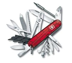 Victorinox | Swiss Army Knives | CyberTool L Knives Red Transparent| 4 Inch| 1.7775.T