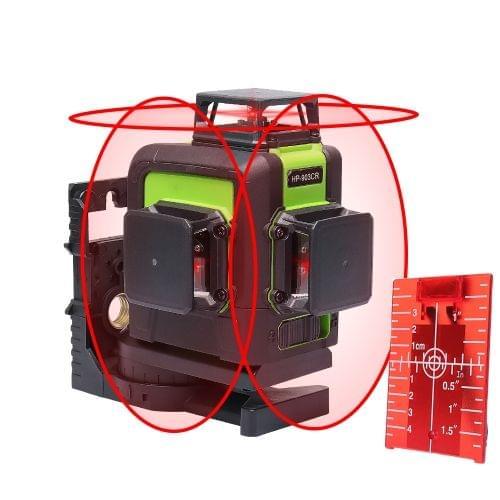TRAVAZA | 3D Green Laser Level 360 Degree full range | Cross Line, Horizontal, Vertical Lines  | 903CR