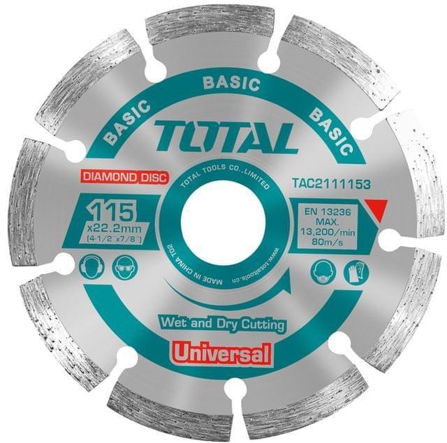 TOTAL   DIAMOND DISC UNIVERSAL   115 X 22.2mm   TAC2111153