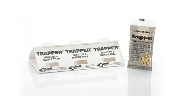 BELL | Trapper Monitor w/Roach Tablets | Box of 100 | BELL0019-TM2601