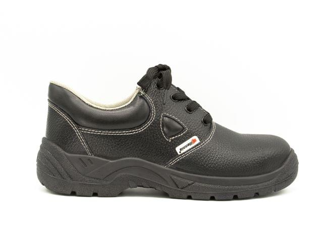MILLENNIA | Leather Safety Shoes with Warranty | Oil Resistant / Anti Slip / Steel Toe Cap | Made in Qatar | 7712-Pantera