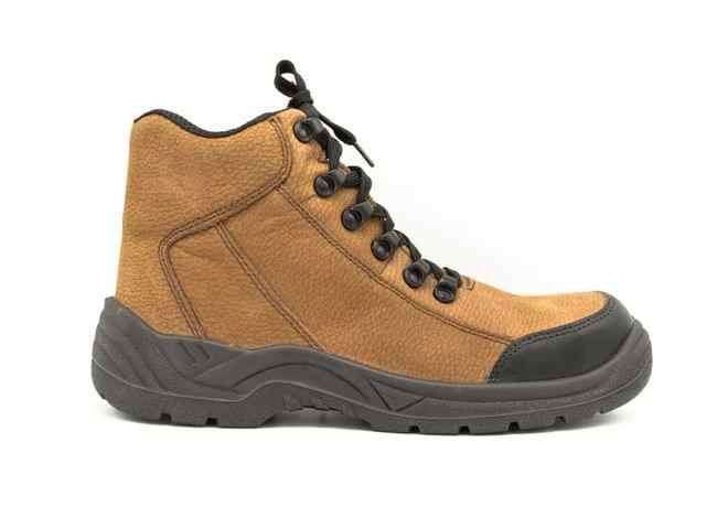 MILLENNIA | Leather Safety Shoes with Warranty | Oil Resistant / Anti Slip / Steel Toe Cap | Made in Qatar | 7720-Engineer