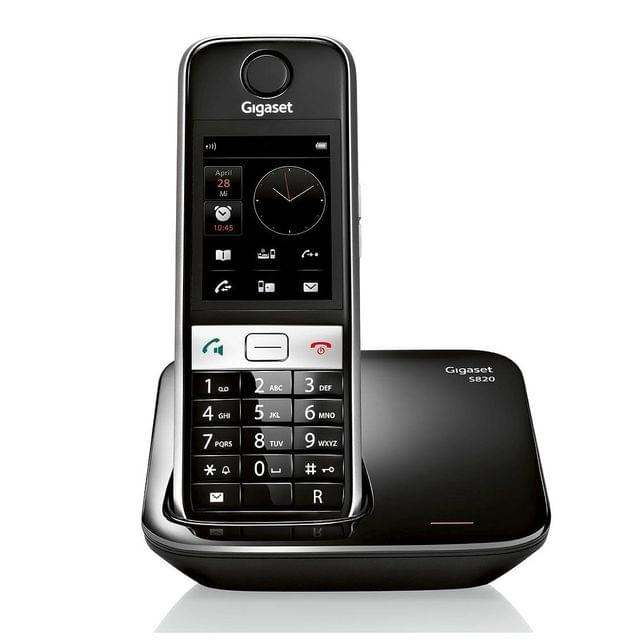 GIGASET | Cordless Phone | Touch Screen | S820 | BLACK