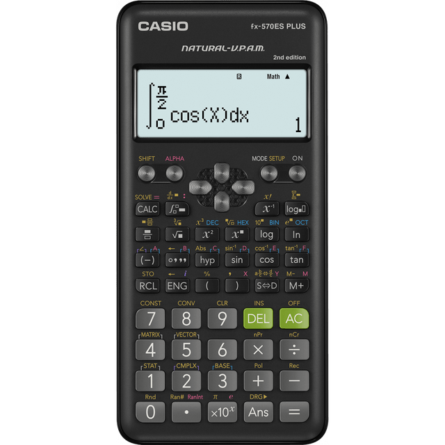 CASIO | Scientific Calculator | 105g | Black | FX-570ESPLUS-2WDTV