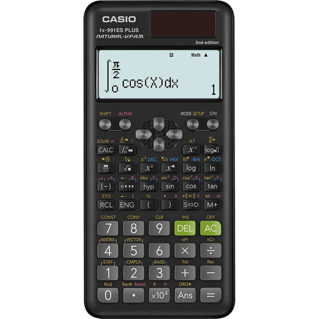 CASIO | Scientific Calculator | Black | FX-991ESPLUS-2WDTV
