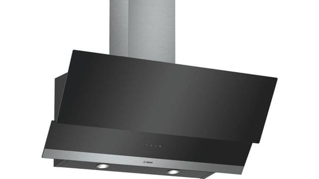 BOSCH | 4 Wall-Mounted Cooker Hood Clear Glass Black Printed | 21 Kg | 90 Cm | DWK095G60M