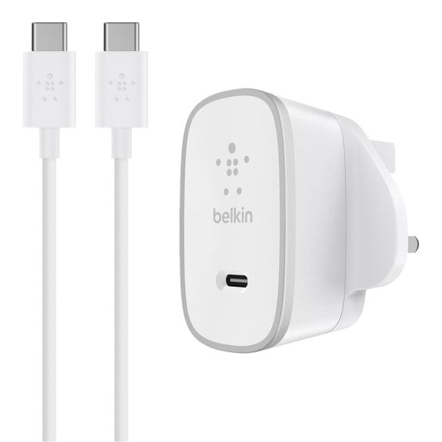 BELKIN | USB-C to USB-C Charger Cable | 15 Watts | 5ft | 118 g | F7U008dr05-WHT