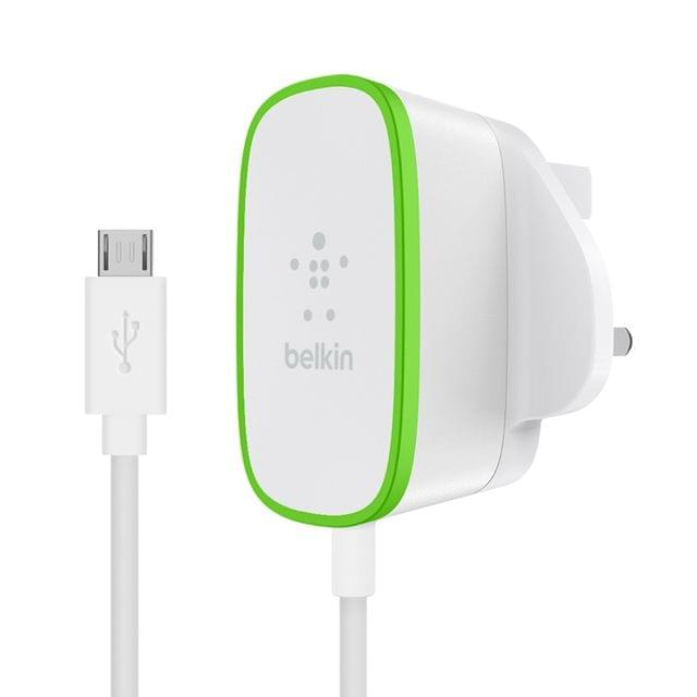 BELKIN | Home Charger With Hardwired Micro-Usb | 12 Watts | 2.4 Amp | F7U009dr06-WHT