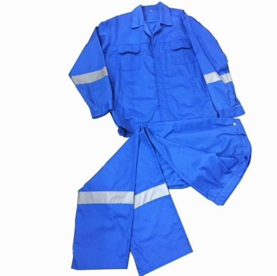 Work Wear | Reflective | Washable | 210 GSM | Pure Cotton | Blue