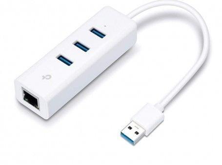 TP-LINK | Gigabit Ethernet Adapter | USB 3.0 Hub | 3-Port | UE330