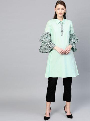 Green Solid Tunic