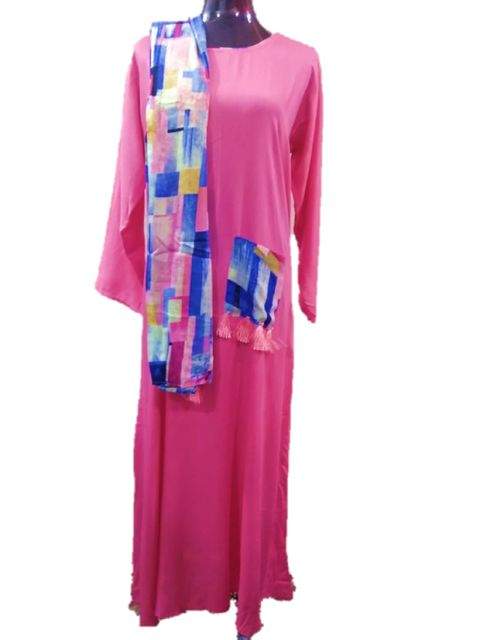 DESIGNER FROCK LONG WITH STOLE