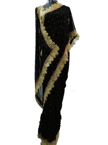 BLACK SAREE DESIGNER